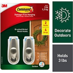 Command Outdoor Forever Classic Medium Metal Hooks Club Pack