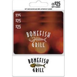 Bonefish Grill $75 Value Gift Cards - 3 x $25