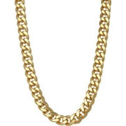 8MM Semisolid Cuban Chain in 14K Gold, 24