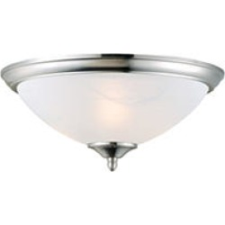 Design House 2-Light Ceiling Mount Trevie Collection Satin Nickel