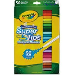 Crayola Washable Super Tips Markers with Silly Scents, Assorted Colors, 50ct. found on Bargain Bro India from Sam's Club for $10.98