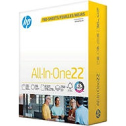 HP AllInOne22 Copy Paper, 8.5x11, 96 Bright, 750 Mega Ream