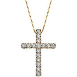 0.71 CT. T.W. Diamond Cross Pendant in 14K Yellow Gold found on Bargain Bro India from Sam's Club for $699.00