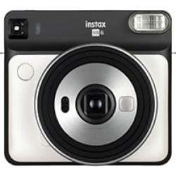 Fujifilm SQ6 Instax Square Instant Film Camera, Pearl White