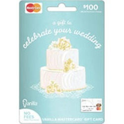 Vanilla® MasterCard® Wedding Gift Card - $100