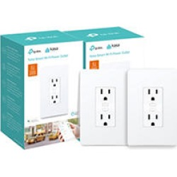 TP-Link KP200 Kasa Smart Wi-Fi In-Wall Power Outlet (2 pack) found on Bargain Bro India from Sam's Club for $69.98