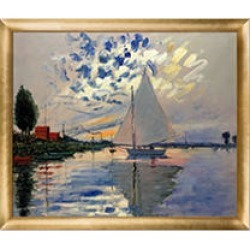 Claude Monet Sailboat at Le Petit-Gennevilliers Hand Painted Oil Reproduction found on Bargain Bro India from Sam's Club for $199.88