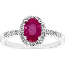 Genuine Ruby and .15 CT. T.W. Diamond Ring in 14k White8 found on Bargain Bro from Sam's Club for USD $333.64