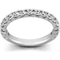 2.00 ct. t.w. PLATINUM 17-Stone Shared Prong Dia Band Sz 9.5 (H-I, I1) found on Bargain Bro Philippines from Sam's Club for $3399.00