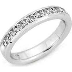 2.00 ct. t.w. PLATINUM Channel-Set Round Dia Band Sz 4 (H-I, I1) found on Bargain Bro Philippines from Sam's Club for $3799.00