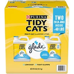 Purina Tidy Cats Clumping Litter with Glade Twin Pack (20 lb, 2 ct.) found on Bargain Bro Philippines from Sam's Club for $13.98