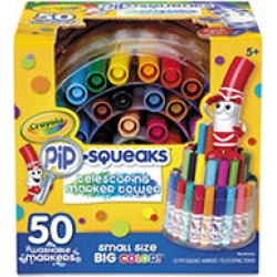 Crayola - Pip-Squeaks Telescoping Marker Tower, Assorted Colors - 50/Set found on Bargain Bro Philippines from Sam's Club for $14.98