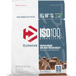 Dymatize ISO100 Hydrolyzed 100% Whey Protein Isolate Powder, Rich Chocolate ( 90 Servings)