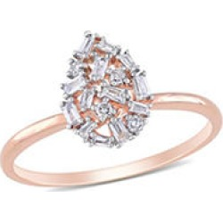 0.23 CT T.W. Tappered Baguette Diamond Teardrop Ring in 14K Rose Gold 8 found on Bargain Bro from Sam's Club for USD $303.24