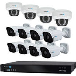 AvertX 16-Channel Cloud Connected Security System with 8TB HDD, 4 4MP Dome Cameras and 8 4MP Bullet Cameras found on Bargain Bro India from Sam's Club for $2899.00