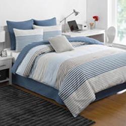IZOD Chambray Stripe Twin Comforter Set