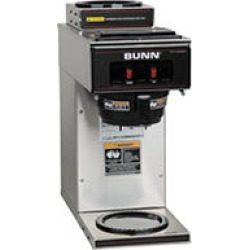 BUNN VP17-2 SST, 12-Cup Commercial Pourover Coffee Brewer, with 2 Warmers, 13300.0002