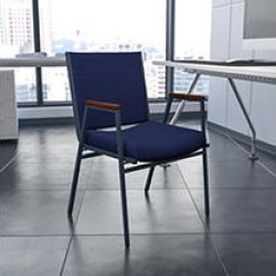 Flash Furniture - Hercules Fabric Padded Chair with Arms - Navy
