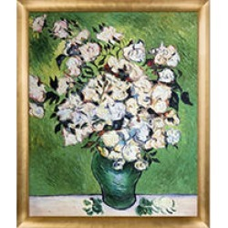 Vincent Van Gogh Still Life (Vase with Roses) Hand Painted Oil Reproduction found on Bargain Bro from Sam's Club for USD $151.91