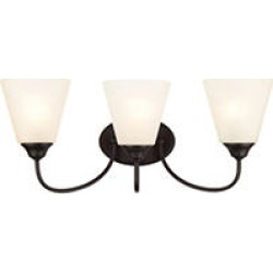 Hardware House Galveston 3 Light Wall Fixture - Black found on Bargain Bro India from Sam's Club for $45.98