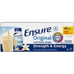 Ensure Original Nutrition Vanilla Meal Replacement Shakes with 9g of Protein (8 fl. oz, 24 ct.)