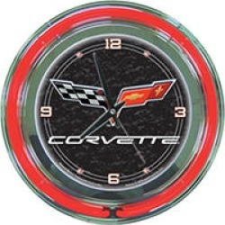 Corvette C6 Neon Clock - 14 inch Diameter - Black found on GamingScroll.com from Sam's Club for $59.88
