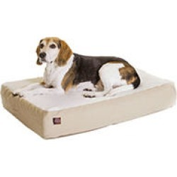 "Majestic Pet Orthopedic Double Pet Bed, 24 x 34"" (Khaki)"