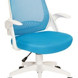 OSP Home Furnishings Jackson Office Chair with Blue Mesh and White Frame including Flip Arms found on Bargain Bro Philippines from Sam's Club for $99.98