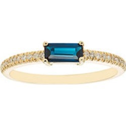 London Blue Topaz and .10 CT. T.W. Diamonds in 14K Gold Yellow7 found on Bargain Bro from Sam's Club for USD $136.04