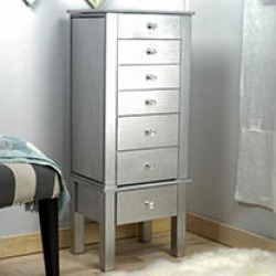 Hives & Honey Crystal Jewelry Armoire - Silver