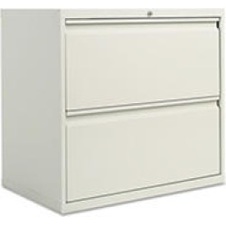 """Alera 30"""" 2-Drawer Lateral File Cabinet, Light Gray"""