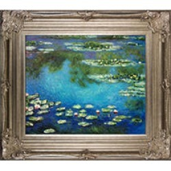 Claude Monet Water Lilies Hand Painted Oil Reproduction found on Bargain Bro from Sam's Club for USD $189.91