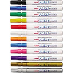 Sanford - uni-Paint Markers, Fine Point, Assorted - 12/Set found on Bargain Bro India from Sam's Club for $22.07