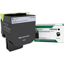 Lexmark 71B1XK0 Unison Extra High-Yield Toner, 8000 Page-Yield, Black