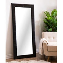 Abbyson Living Emma Leather Large Floor Mirror, Black found on Bargain Bro India from Sam's Club for $299.00