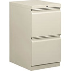 "HON 19-7/8"" Efficiencies Mobile Pedestal 2-File Drawers, Light Gray"