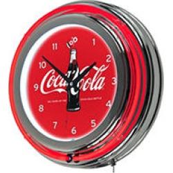 Coca-Cola Retro Neon Clock - 100th Anniversary of the Coca-Cola Bottle found on Bargain Bro from Sam's Club for USD $45.51
