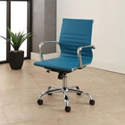 Abbyson Living Cosmo Silver Frame, Leather Office Chair, Turqoise found on Bargain Bro India from Sam's Club for $199.98