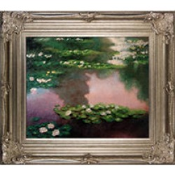 Claude Monet Water Lilies, Green Hand Painted Oil Reproduction found on Bargain Bro India from Sam's Club for $249.88
