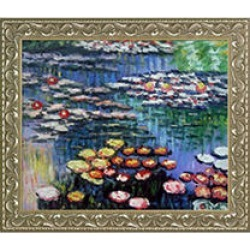 Claude Monet Water Lilies, Pink Hand Painted Oil Reproduction found on Bargain Bro India from Sam's Club for $199.88