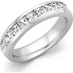 2.00 ct. t.w. PLATINUM Channel-Set Princess Dia Band Sz 5 (H-I, I1) found on Bargain Bro Philippines from Sam's Club for $3899.00