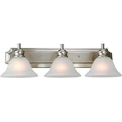 Design House 3-Light Vanity Light Bristol Collection Satin Nickel