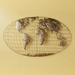 Iron World Map Wall Art found on Bargain Bro from Sam's Club for USD $45.50