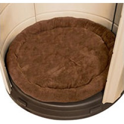 """ASL Solutions Fleece Dog Bed for CRB Palace Dog House, 40"""" Colossal Sized, Brown"""