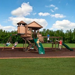 Backyard Discovery Timber Cove Swing Set w/ Install