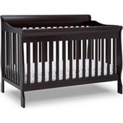 Delta Children Canton 6-in-1 Convertible Crib, Dark Chocolate