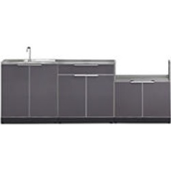 NewAge Products Outdoor Kitchen Cabinet Aluminum 4 Piece Set found on Bargain Bro India from Sam's Club for $2578.00