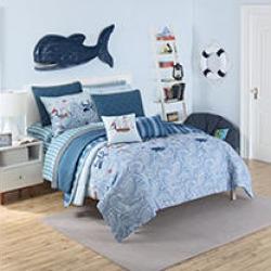 Waverly Kids Ride the Waves Reversible Twin Comforter Set