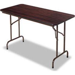 Alera - Melamine Folding Table, 4 x 2 ft - Walnut