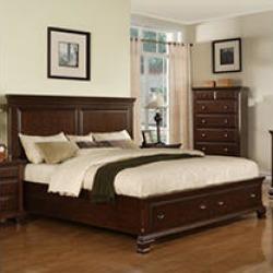 Brinley Cherry King Storage Bed